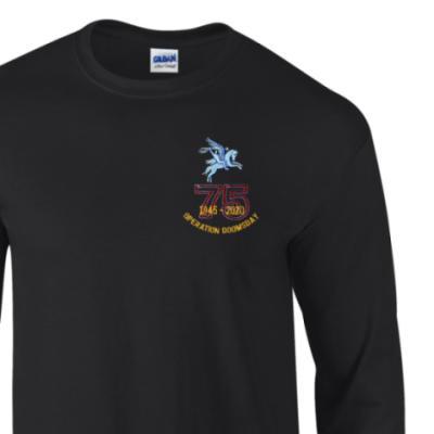 Long Sleeved T-Shirt - Black - Operation Doomsday 75th (Pegasus)