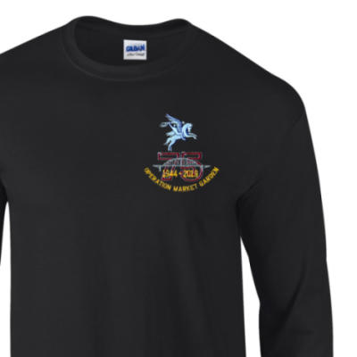 Long Sleeved T-Shirt - Black - Operation Market Garden 75th (Pegasus)