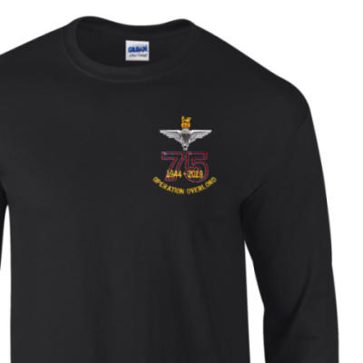 Long Sleeved T-Shirt - Black - Operation Overlord 75th (Para)