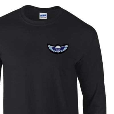 Long Sleeved T-Shirt - Black - Sabre Wings