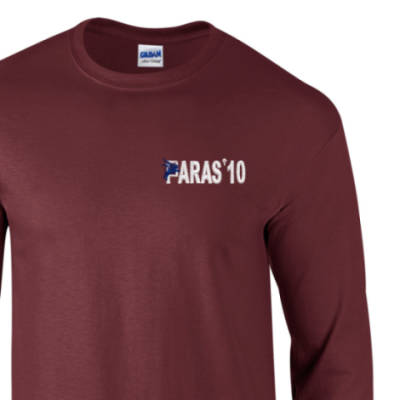 Long Sleeved T-Shirt - Maroon - Paras 10
