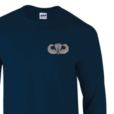 Long Sleeved T-Shirt - Navy - USA Wings