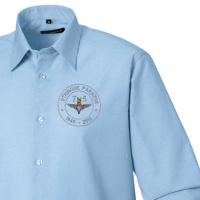 Long Sleeved Shirt - Oxford Blue - Airborne 75 (Para)