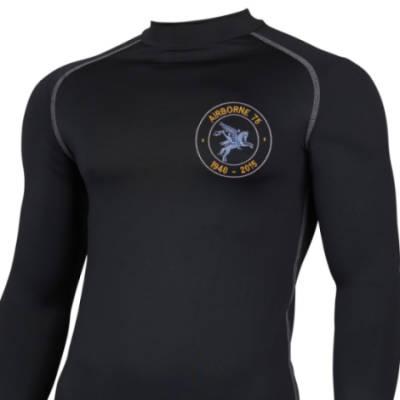 Long Sleeved Thermal Top - Black - Airborne 75 (Pegasus)
