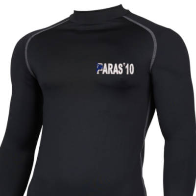 Long Sleeved Thermal Top - Black - Paras 10