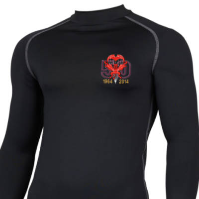 Long Sleeved Thermal Top - Black - Red Devils 50th