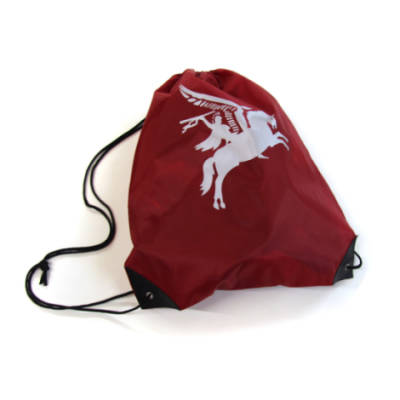 Maroon Drawstring Bag