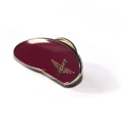 Maroon Para Beret Lapel Badge