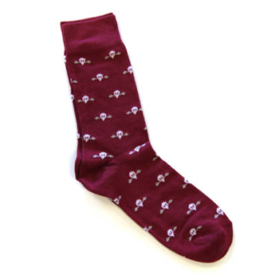 Maroon Jump Wings Socks (Short)