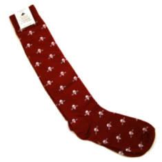 Maroon Para Socks (Long)