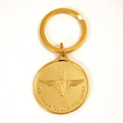 Medallion Key Ring, Para & Pegasus 22ct Gold Plated