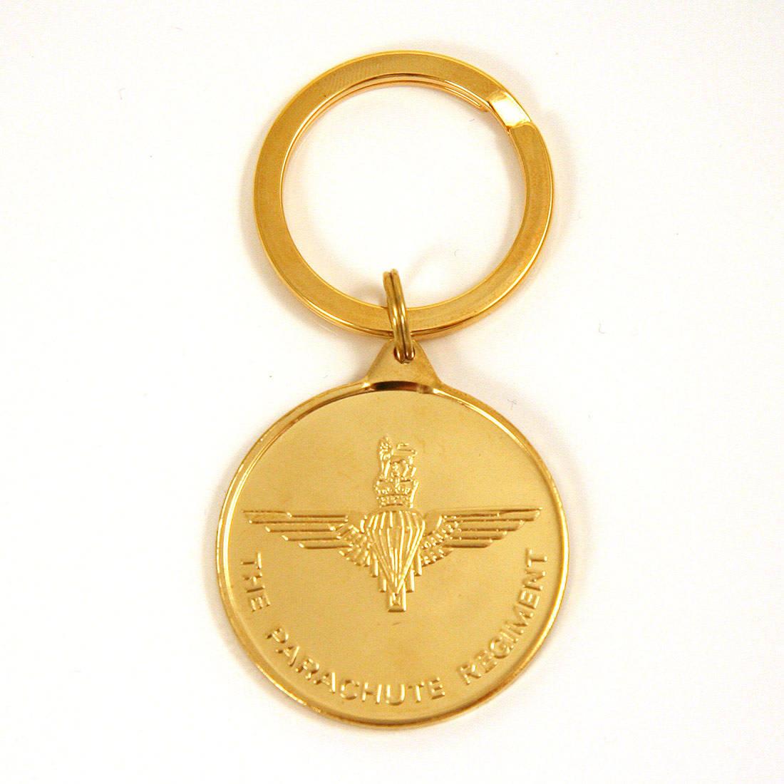 Medallion Key Ring, Para & Pegasus 22ct Gold Plated