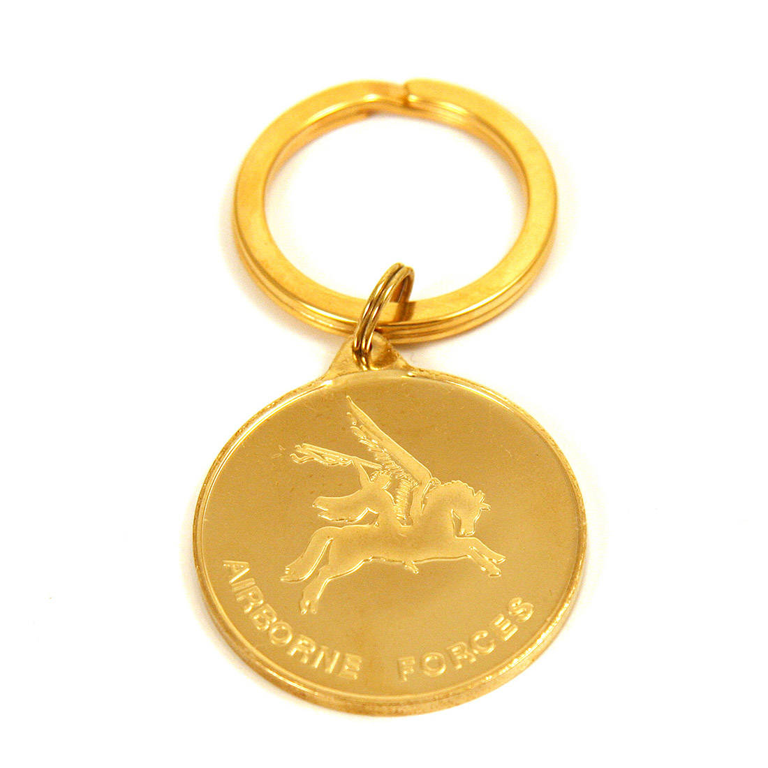 Medallion Key Ring, Parachute Regiment & Pegasus 22ct Gold