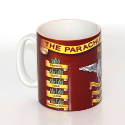 Mug - Parachute Regiment Drum Banner With New Battle Honours