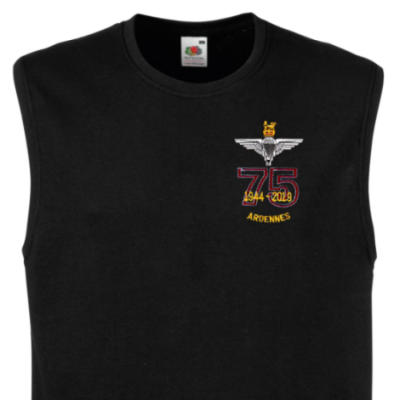 Muscle Tee - Black - Ardennes 75th (Para)