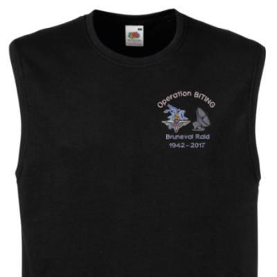Muscle Tee - Black - Bruneval Raid (Operation Biting) 75th