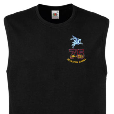 Muscle Tee - Black - Operation Manna 75th (Pegasus)