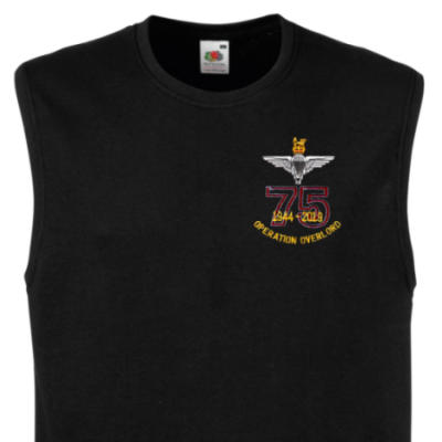 Muscle Tee - Black - Operation Overlord 75th (Para)