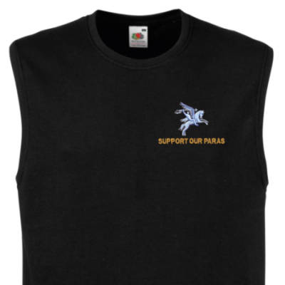 Muscle Tee - Black - Support Our Paras (Pegasus)