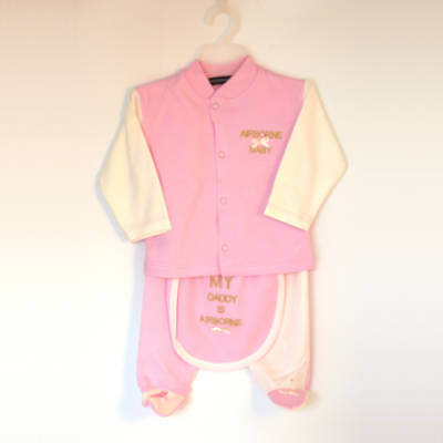 New Born 'Airborne Baby' Set - Pink