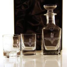 Para Nightcap Set - Pair of Dram Glasses and Decanter In Gift Box