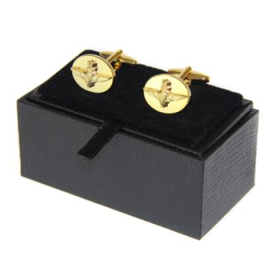 Oval Embossed Cufflinks (Gilt Plated)