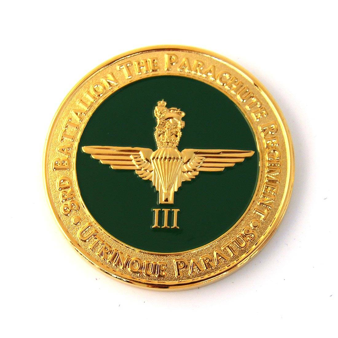 Parachute Regiment Challenge Coins With Battle Honours