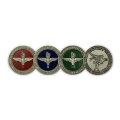 Challenge Coins with Battle Honours (Gun Metal) - Front and Back