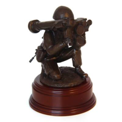 Para Javelin Anti Tank Firer Statues (11 Inch, Resin Bronze)