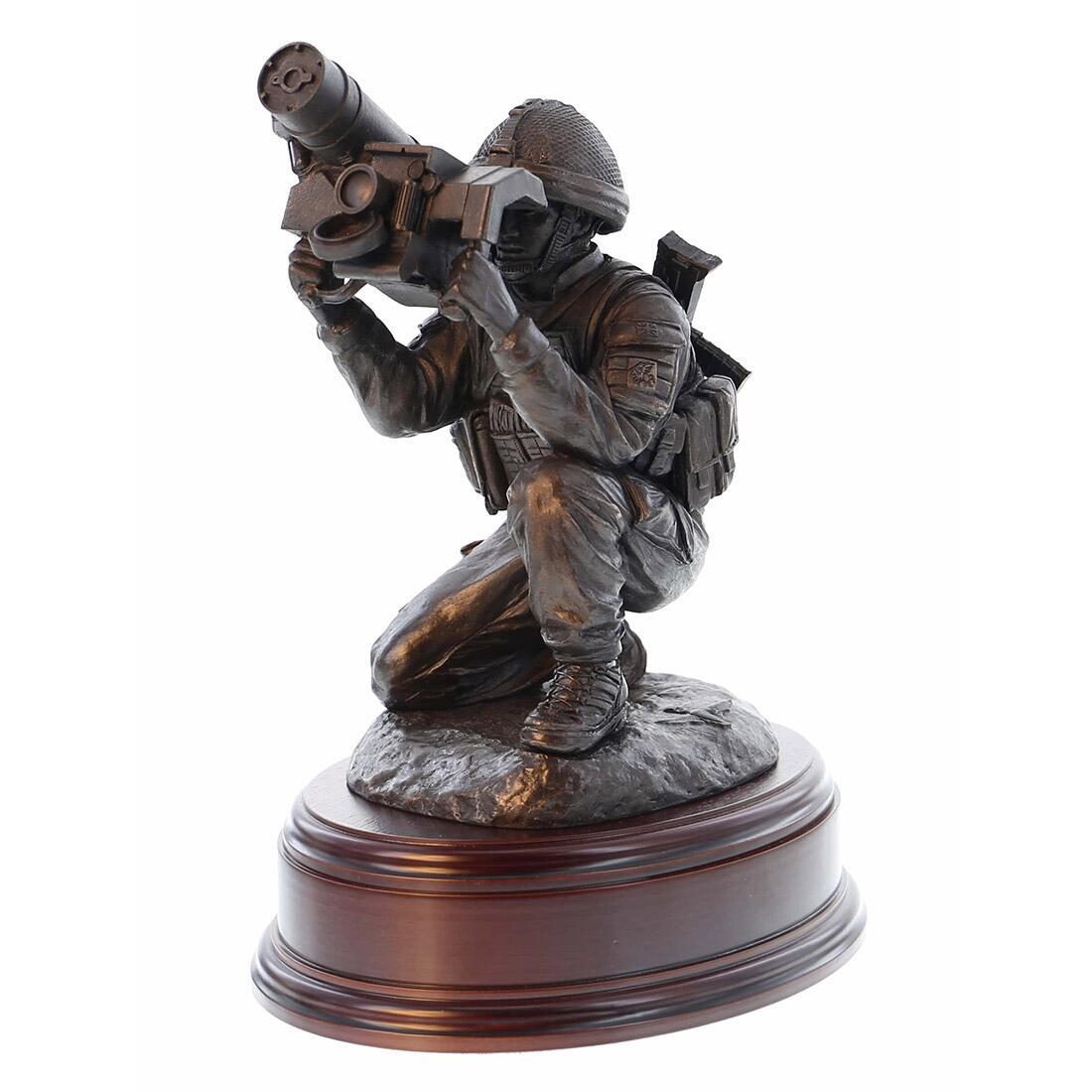 Para Javelin Anti Tank Firer Statues (Resin Bronze)