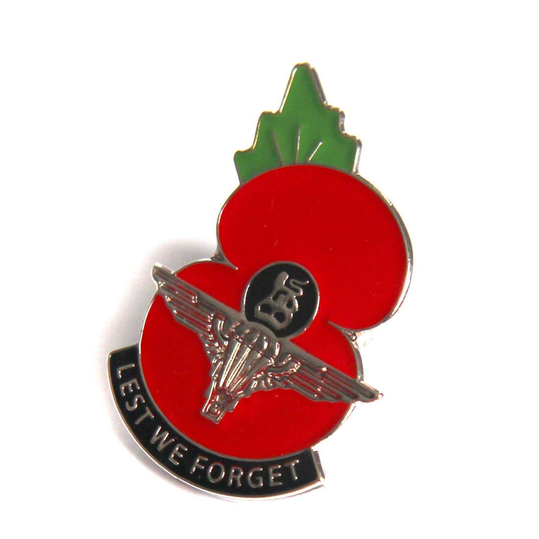 Para Poppy Lapel Badge (Lest We Forget) - The Airborne Shop