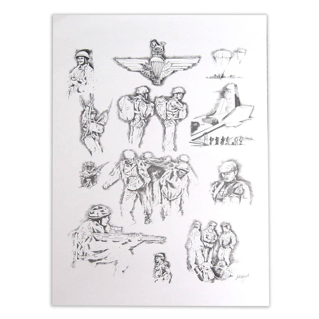 Para Sketched (Print)