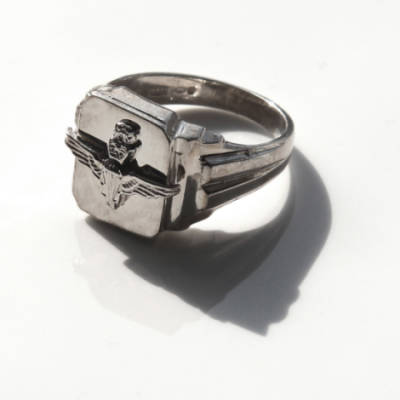 Sterling Silver Square Parachute Regiment Ring (2)