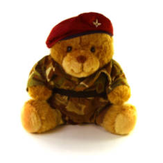 Para Teddy Bear with Uniform and Beret (10in)