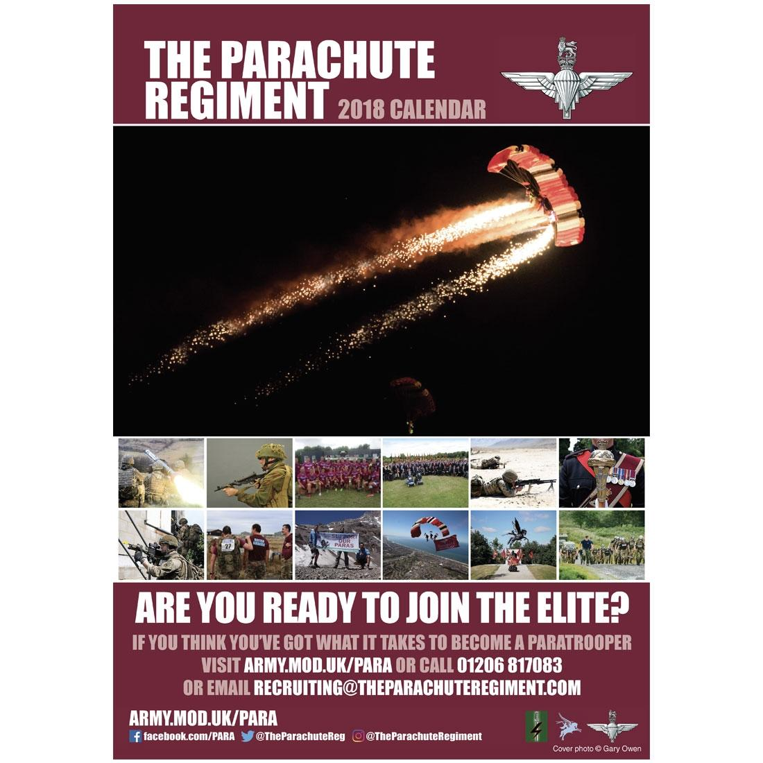 2018 Official Parachute Regiment Calendar