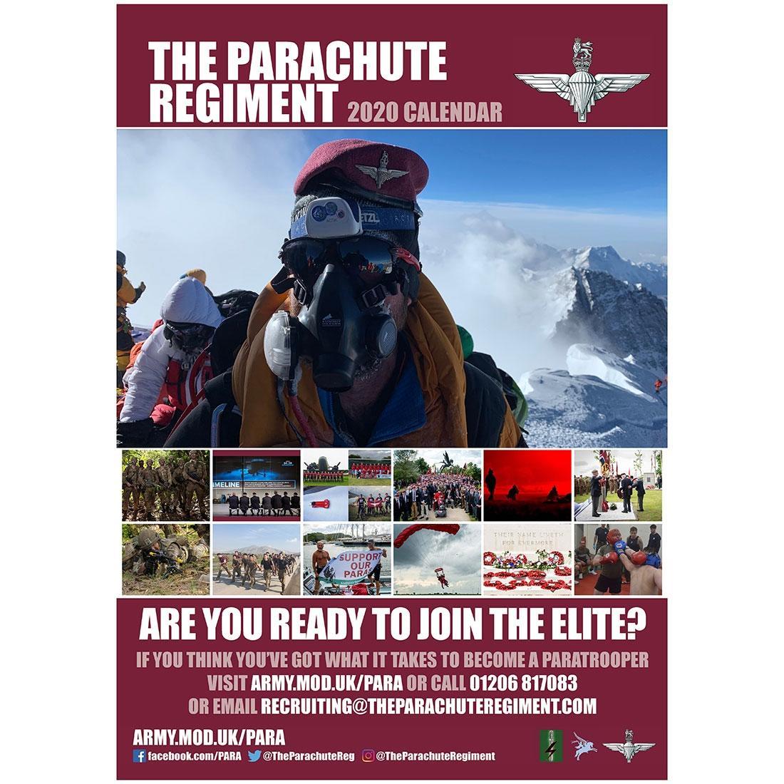 2020 Official Parachute Regiment Calendar