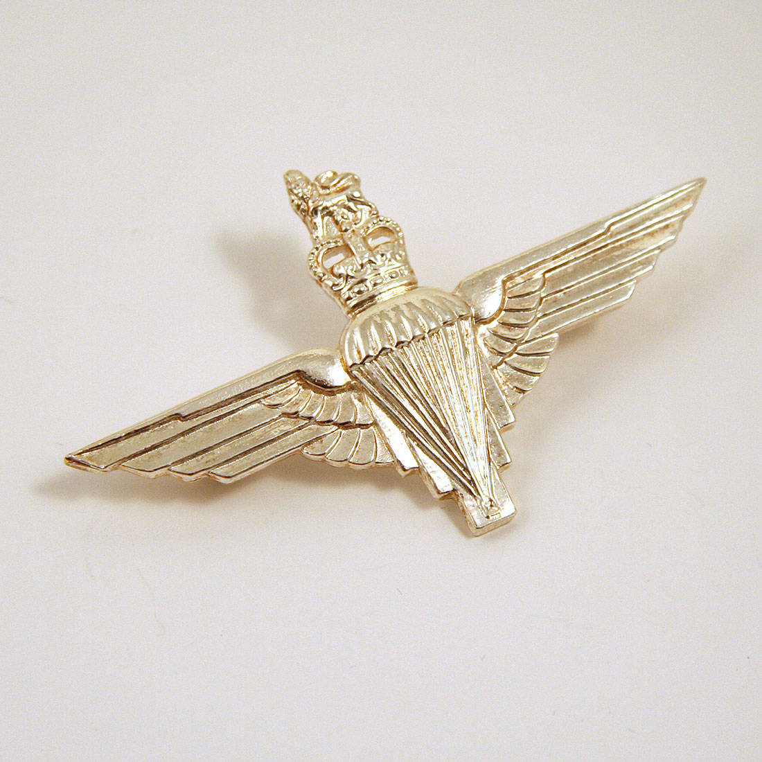 Sterling Silver Parachute Regiment Cap Badge (Brooch Fitting)