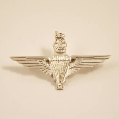 Sterling Silver Parachute Regiment Cap Badge
