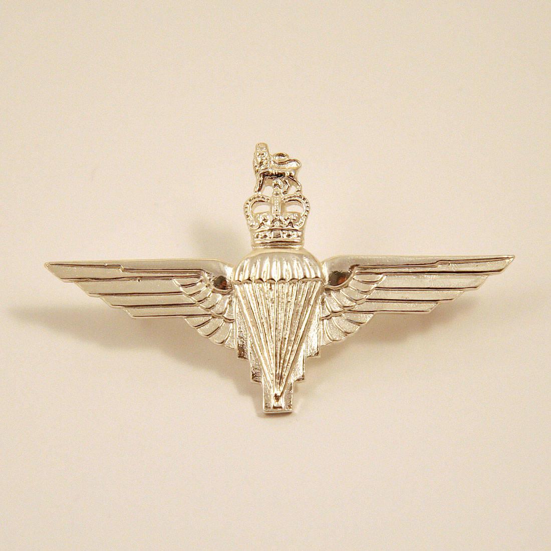 Sterling Silver Parachute Regiment Cap Badge