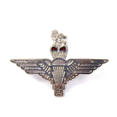 Large Nickel Parachute Regiment Lapel Badge