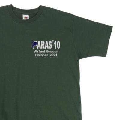 Paras' 10 Virtual Brecon Finisher 2021 T-Shirt