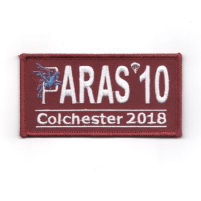 Paras 10 Woven Patches - Colchester 2018