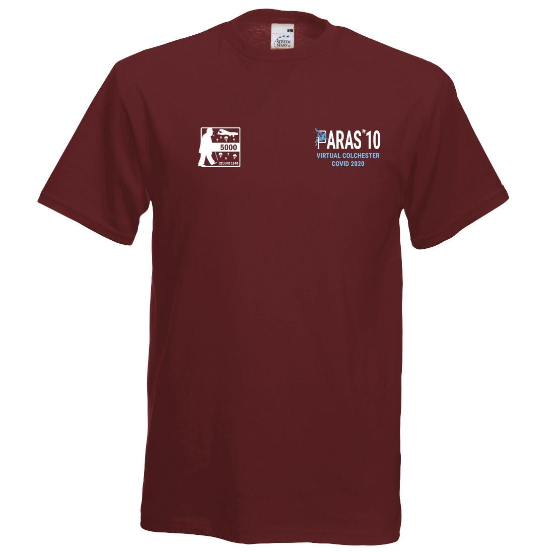 Paras' 10 Virtual Colchester Covid 2020 T-Shirt