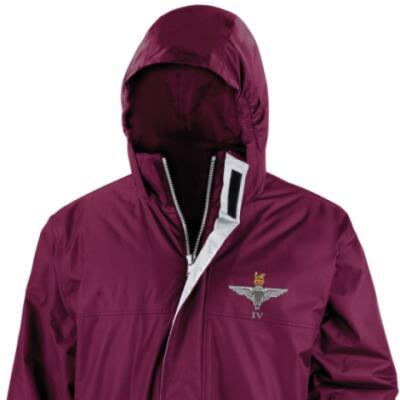 *CLEARANCE* Parka Jacket, XL, Maroon, 4 Para Cap-Badge