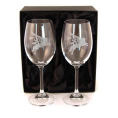 Pegasus Red Wine Glasses (Pair) In Gift Box