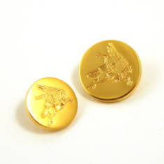 Pegasus Flat Gilt Blazer Button - Small