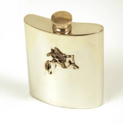 Pegasus Pewter Hip Flask