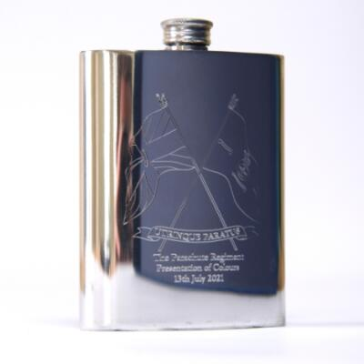 Pewter Hip Flask - Presentation of Colours 2021