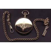 Gilt Finish Engraved Pocket Watch - Para