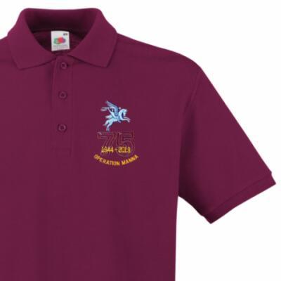 Polo Shirt - Maroon - Operation Manna 75th (Pegasus)